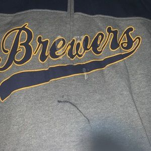 PINK Brewers half zip up